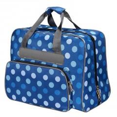 Tasche Blau/Punkte für Nähm. 45x21x37cm