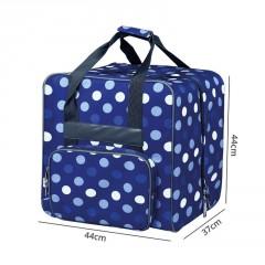 Tasche Blau/Punkte für Overlock 44x37x41cm