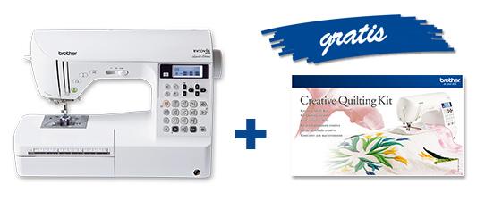 Nur bis zum 31. Juli 2016: beim kauf einer Innov-is 550 SE erhalten Sie das Quilting Kit (QFK1) gratis dazu.